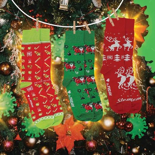 Бренд St.Friday Socks и группа Little Big представили совместную новогоднюю коллекцию