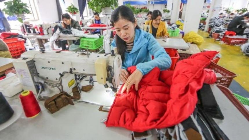 Экспорт текстиля из Китая вырос на 9,6%