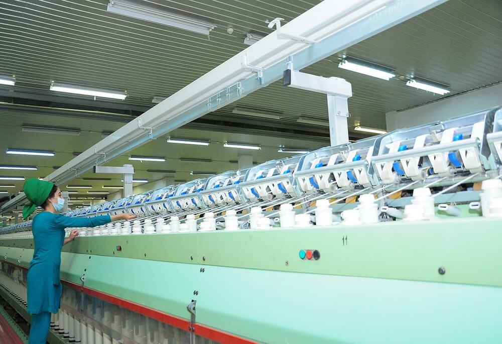 Хлопкопрядильная фабрика Туркменистана успешно завершила 2020 год