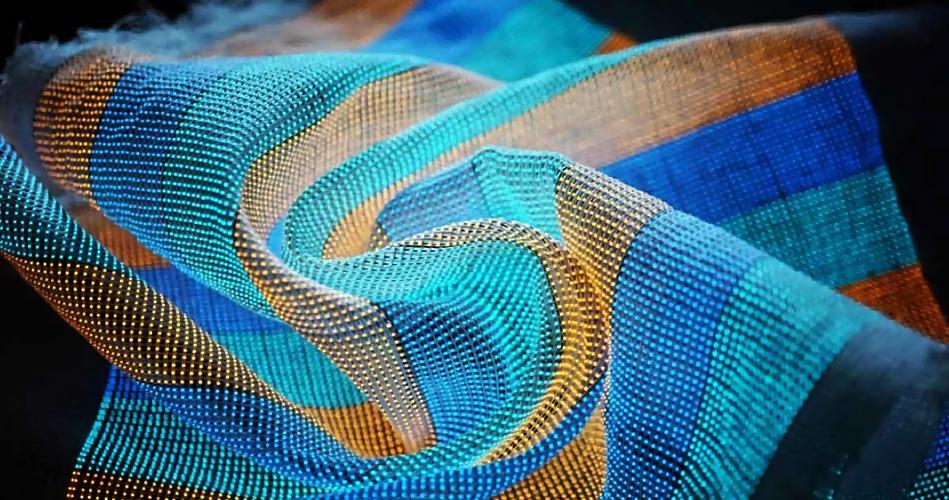 Китайские ученые разработали текстиль, который можно использовать в качестве дисплея
